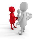 Success Choice Of 3d Man Partner. Teamwork Concept Royalty Free Stock Image