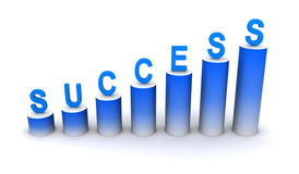 Success climbing upwards Royalty Free Stock Photos
