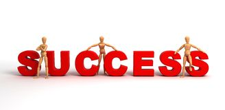 Success (With clipping path). (computer generated image stock illustration