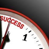 Success clock Royalty Free Stock Photos