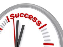Success clock Royalty Free Stock Images