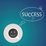Success coffee cup background, vector Stock Photo