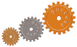 Success Cogs Royalty Free Stock Photography