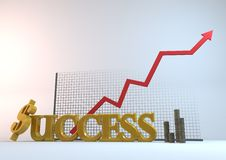 Success Coins-Chart Stock Photo