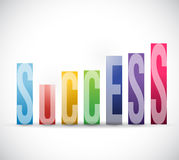 Success color graph illustration design. Over a white background Stock Photos