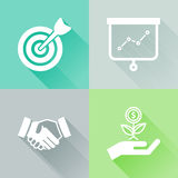 Success colorful flat icons Stock Photos