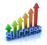 Success colorful graph concept. 3D render. isolated Royalty Free Stock Photos