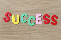 Success of colorful text. Stock Photo