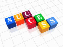 Success in colour Royalty Free Stock Photos