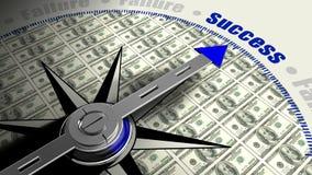 Success compass with dollar texture Stock Photos
