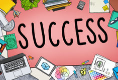 Success Competition Winning Mission Motivation Concept Stock Photos