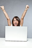 Success on computer Royalty Free Stock Images