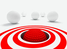 Success concept. Conceptual 3d image of success with golf balls Stock Images