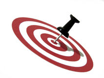 Success concept 2. Red bullseye and pin, suitable for success and business concept royalty free stock photo
