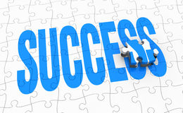 Success concept. The word: success, made with a puzzle (3d render royalty free illustration