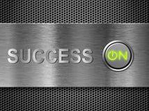 Success on concept. Power button success on concept Stock Photos