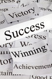 Success Concept. A conceptual look at success and related concepts Stock Image