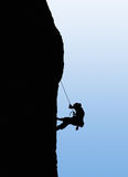 Success concept. Illustration. Illustration of person rock climbing. Mountaineer illustration vector illustration