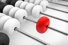 Success concept. Abacus with red bead Royalty Free Stock Images