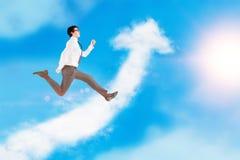 Success concept arrow cloud Royalty Free Stock Photos