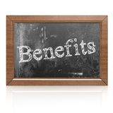 Success concept with benefits on blackboard Stock Photography