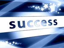 Success concept blue with stars. Blue success symbol concept with stars and arrow Royalty Free Stock Image