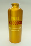 Success concept. Success 'bottled' in a gold container, as a metaphor for wealth, achievement and motivation Stock Photos