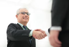 Success concept in business - handshake of business partners Stock Images