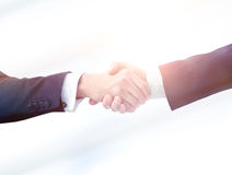 Success concept in business - handshake of  partners Stock Photos