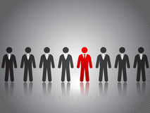 Success concept. Business success concept stick figures Royalty Free Stock Photography