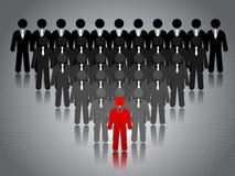 Success concept. Business success concept stick figures Stock Images