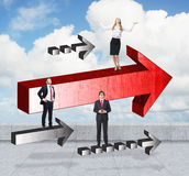Success concept with businesspeople Royalty Free Stock Photos