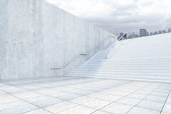 Success concept with concrete stairs Stock Photo