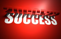 Success concept, cut out in background Stock Photos