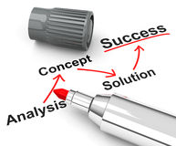 Success concept. 3d generated picture of a success concept royalty free illustration