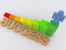 Success concept. A 3d illustration of success concept Stock Photos