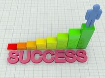 Success concept. A 3d illustration of success concept Stock Photo
