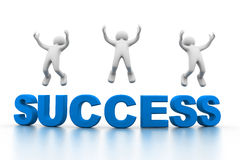 Success concept. 3d illustration of Success concept Royalty Free Stock Images