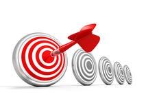 Success Concept Dart Target With Arrow. 3d Render Illustration Royalty Free Stock Photos