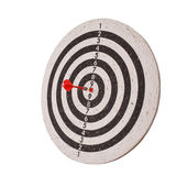 Success concept, darts hit target on dartboard Royalty Free Stock Images