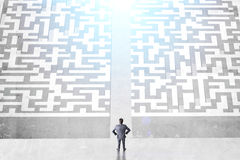 Success concept divided maze Royalty Free Stock Photos