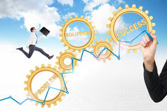 Success concept gears Royalty Free Stock Images