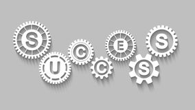 Success concept with gears Stock Photo