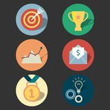 Success concept icons set Royalty Free Stock Photo