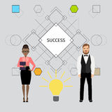 Success concept illustration with business people stock illustration