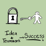 Success Concept. Illustration of diagram of a success concept Stock Photography