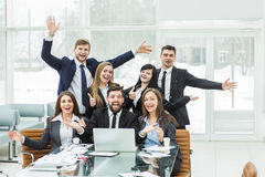Free Success Concept In Business - A Professional Business Team Is Delighted With The Achievements Of The Joint Work Stock Image - 88461991