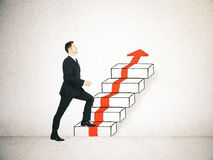 Success concept ladder sketch Royalty Free Stock Photography