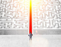 Success concept with maze Stock Photography