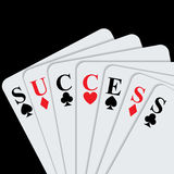 Success concept with playing cards. Stock Image